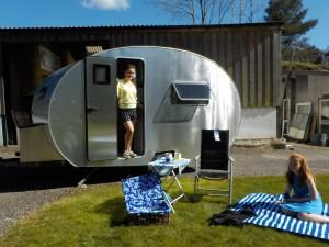 3 berth Aluminium Caravan