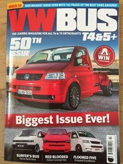 vw bus t4 t5 magazine 50th issue features retro tourer. Black Bedroom Furniture Sets. Home Design Ideas
