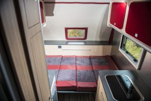 Double bed at rear
