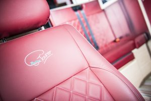 Red leather seats