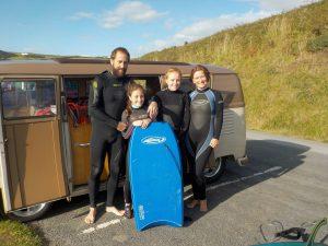 VW camper, body board, buzz burrell, maz burrell,