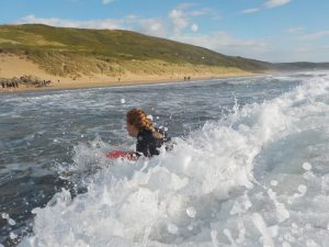 Holly Burrell Surfing
