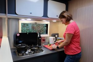 kitchenette, camping