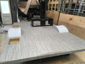 grey stripe floor motorhome