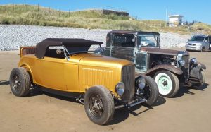 Chevy, Ford Roadster, 3 window coupe
